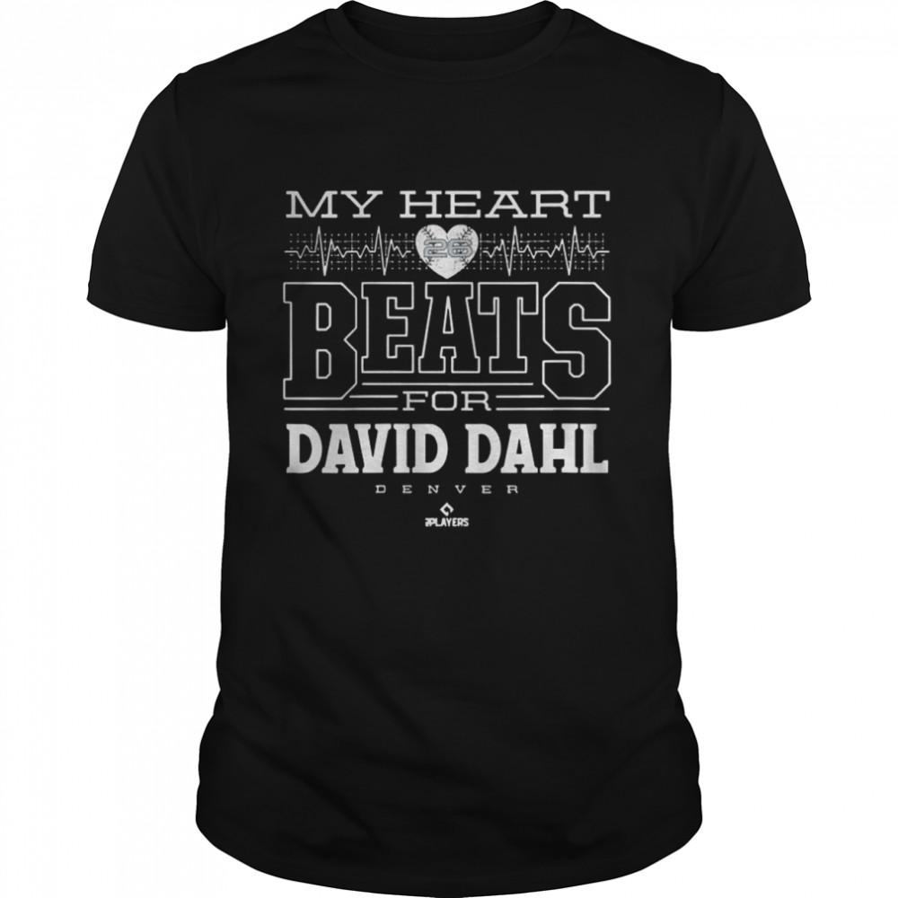 My Heart Beats For David Dahl Denver Womens 2021 shirt
