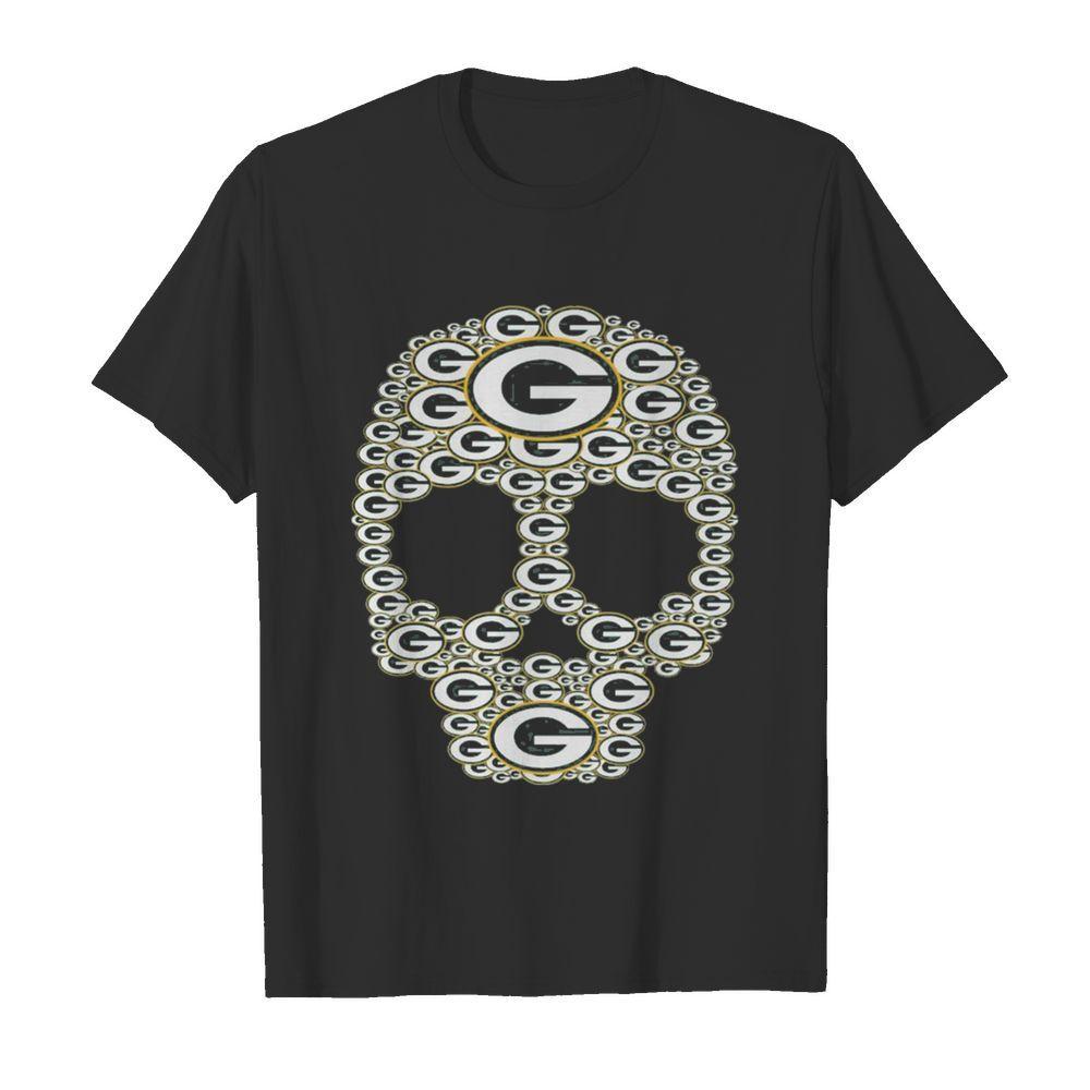 Skull Green Bay Packers logo shirt