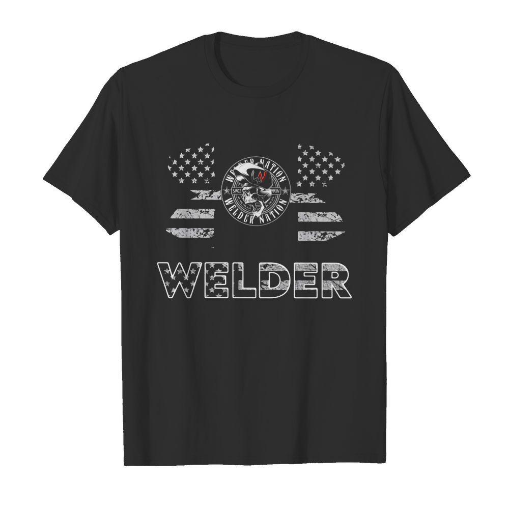 Under Armour Welder American Flag shirt