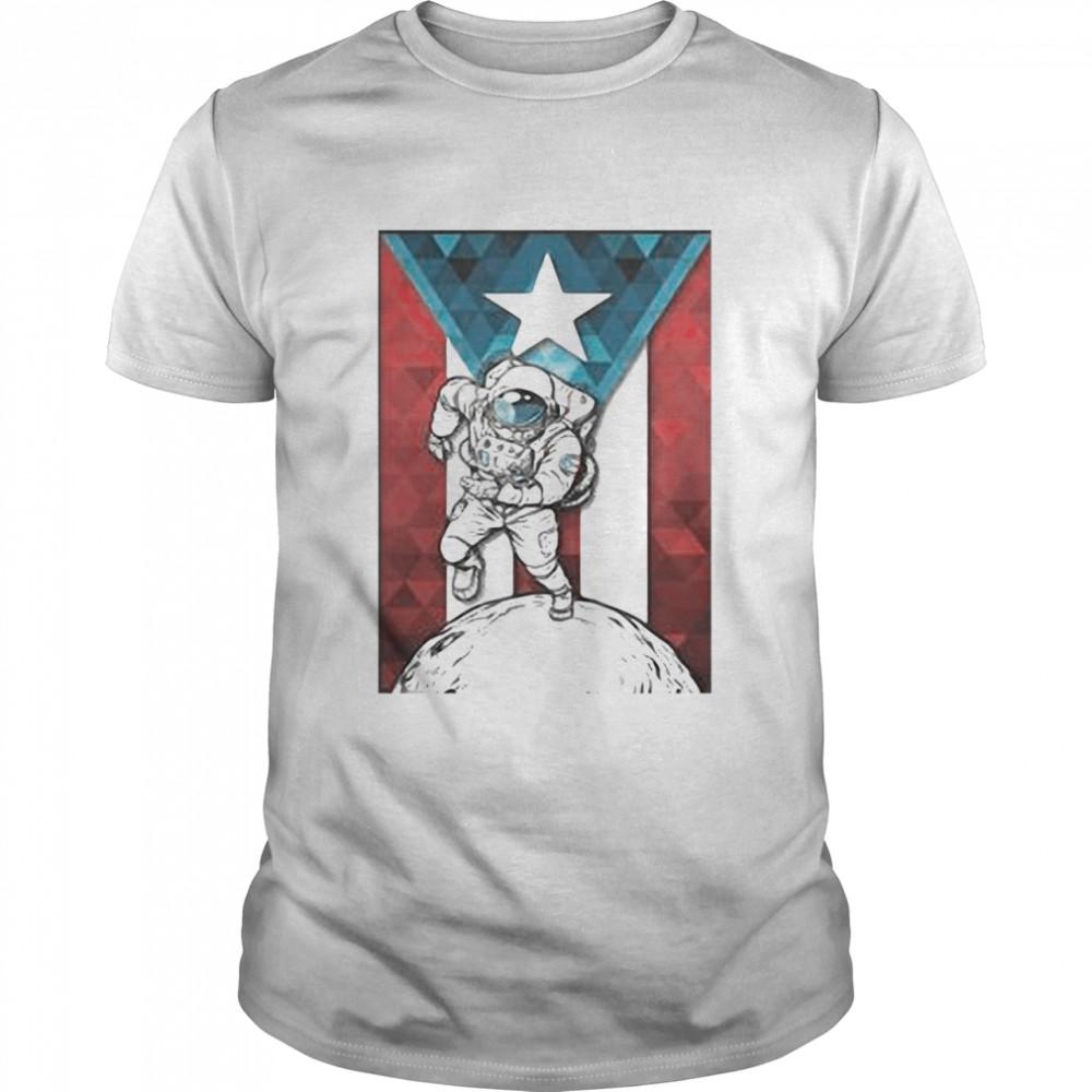 Astronaut Borincano Flag shirt
