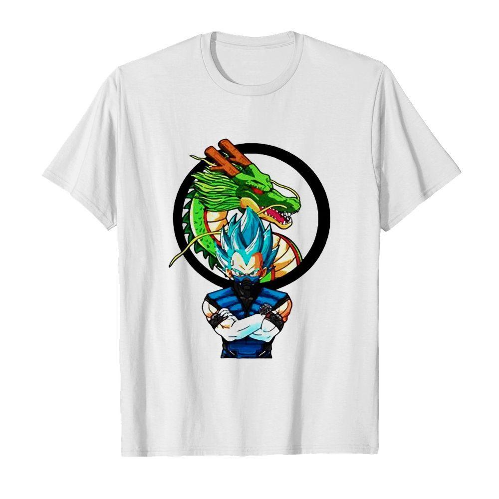 Dragon Ball Vegeta face mask shirt