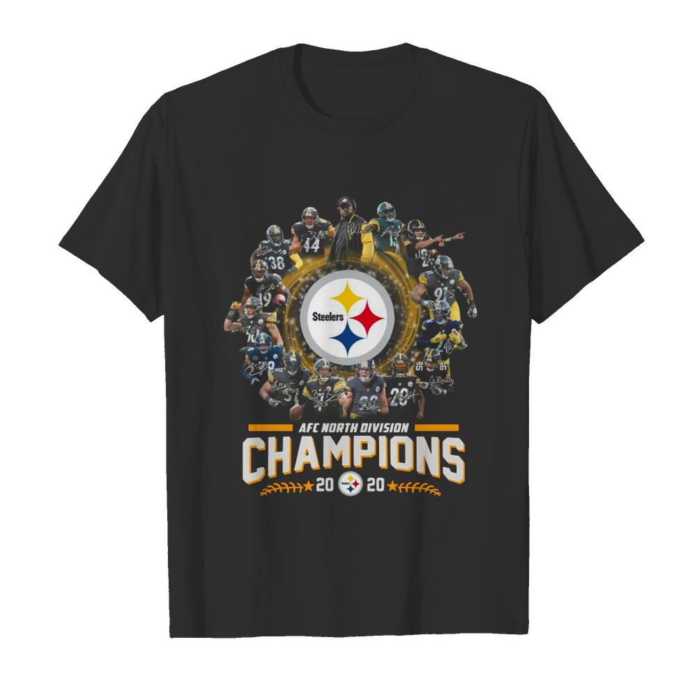 Pittsburgh Steelers Team Football 2020 Afc North Division Signatures shirt