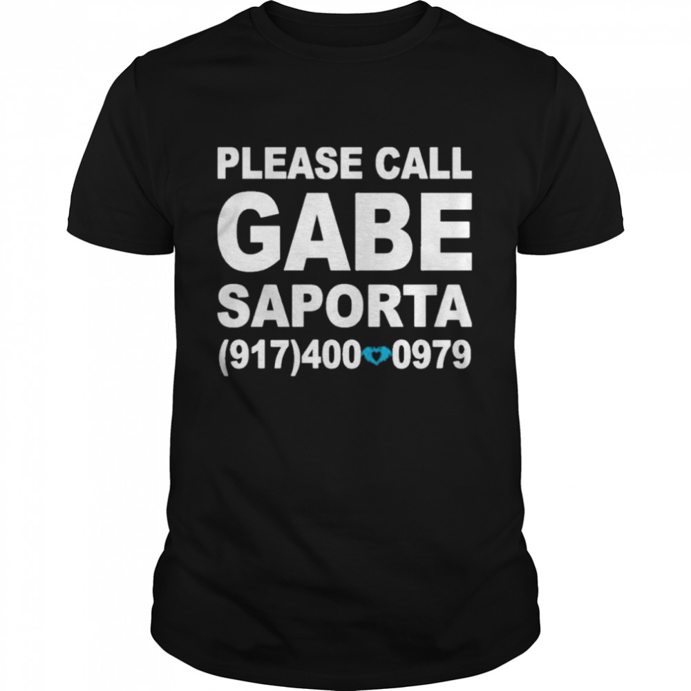 Please call gabe saporta shirt