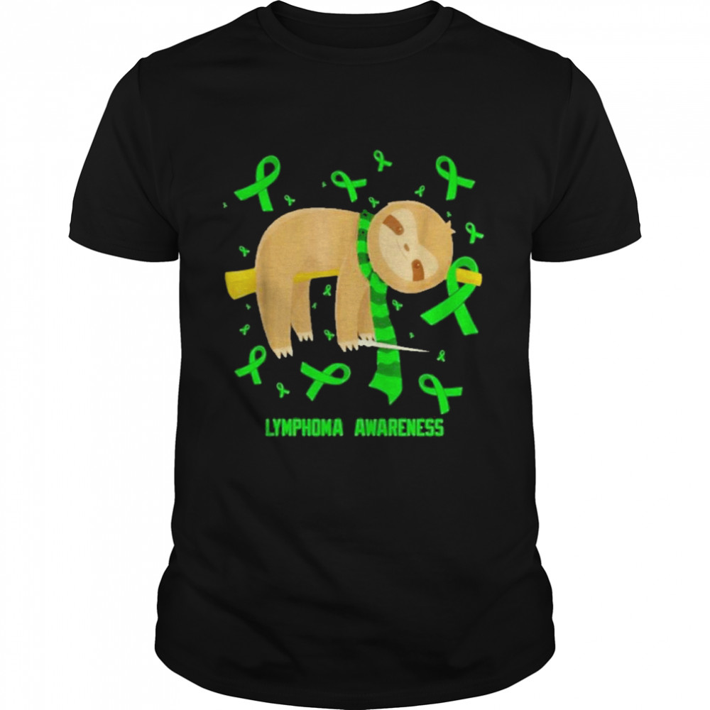 Sloth lymphoma awareness shirt