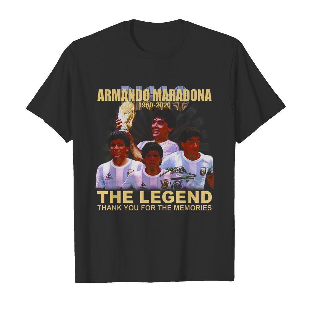 Armando Maradona 1960 2020 signature the legend thank you for the memories shirt