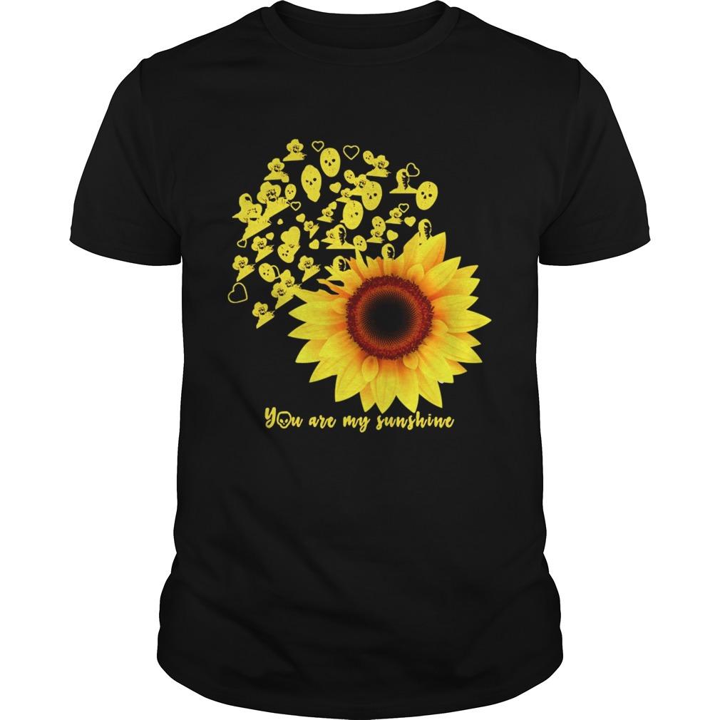 Horror Character Sunflower You Are My Sunshine shirt