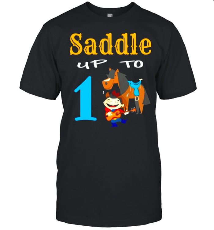 Toddler Boys 1st Birthday Saddle Up To shirt