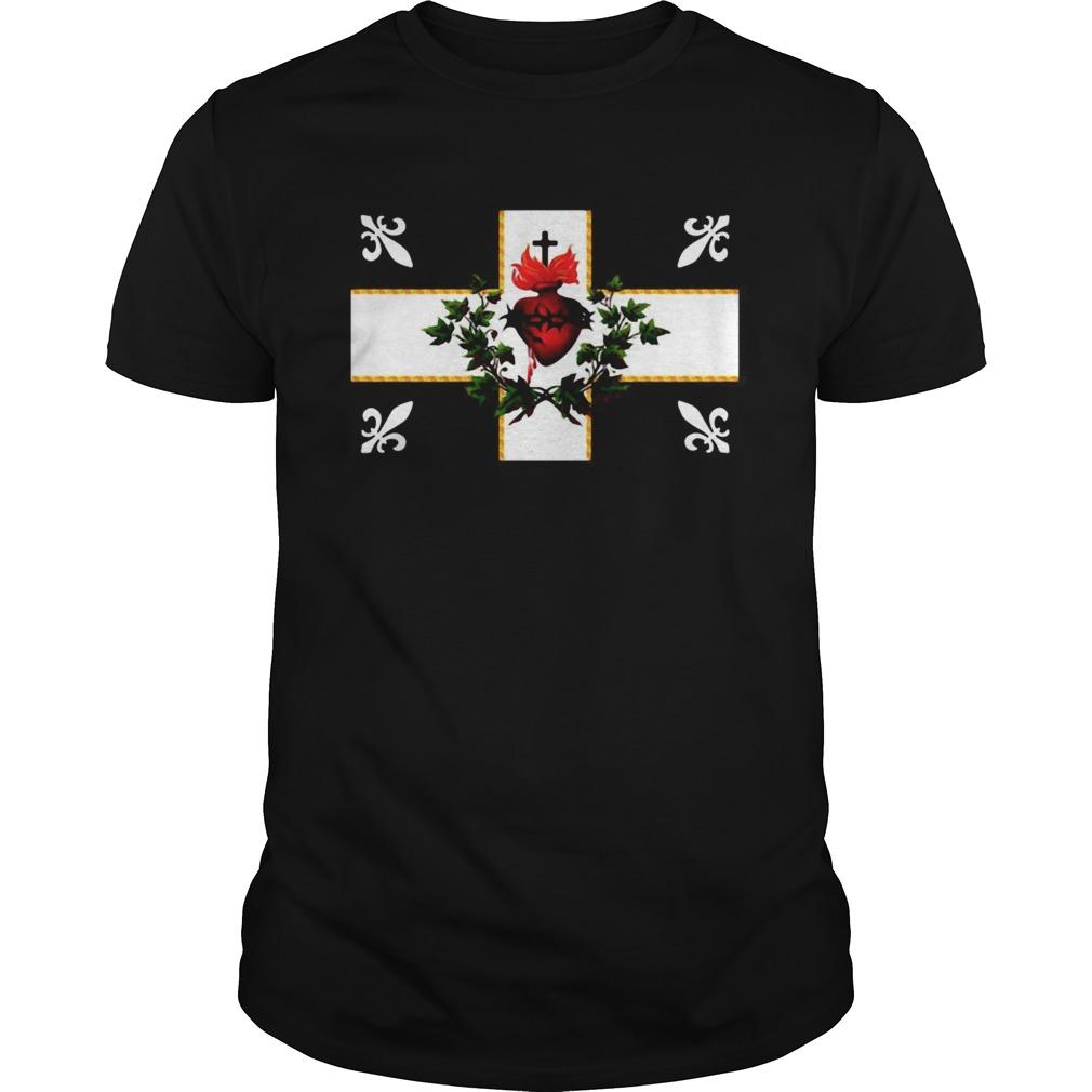 Canada Sacre Coeur Carillon Catholique Francais Flag Royal Quebec shirt