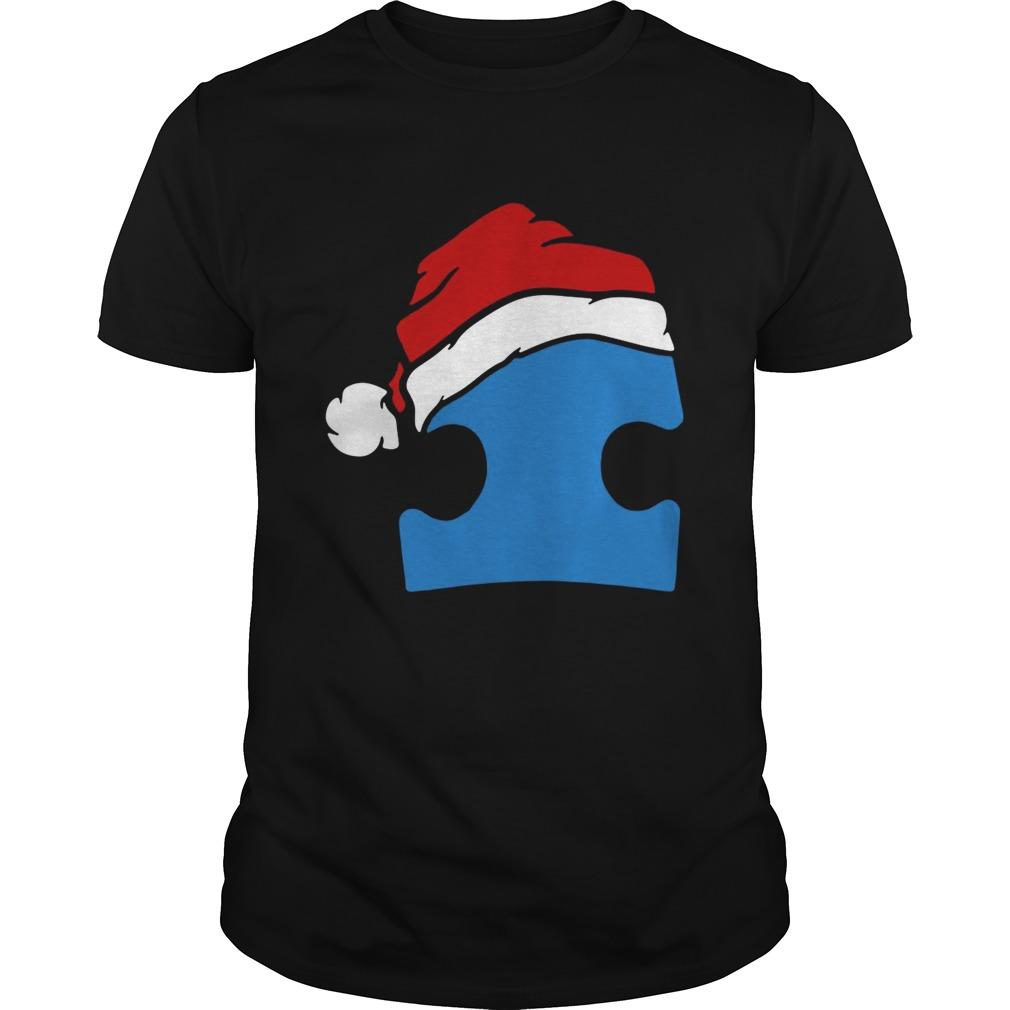 Santa Autism Christmas shirt