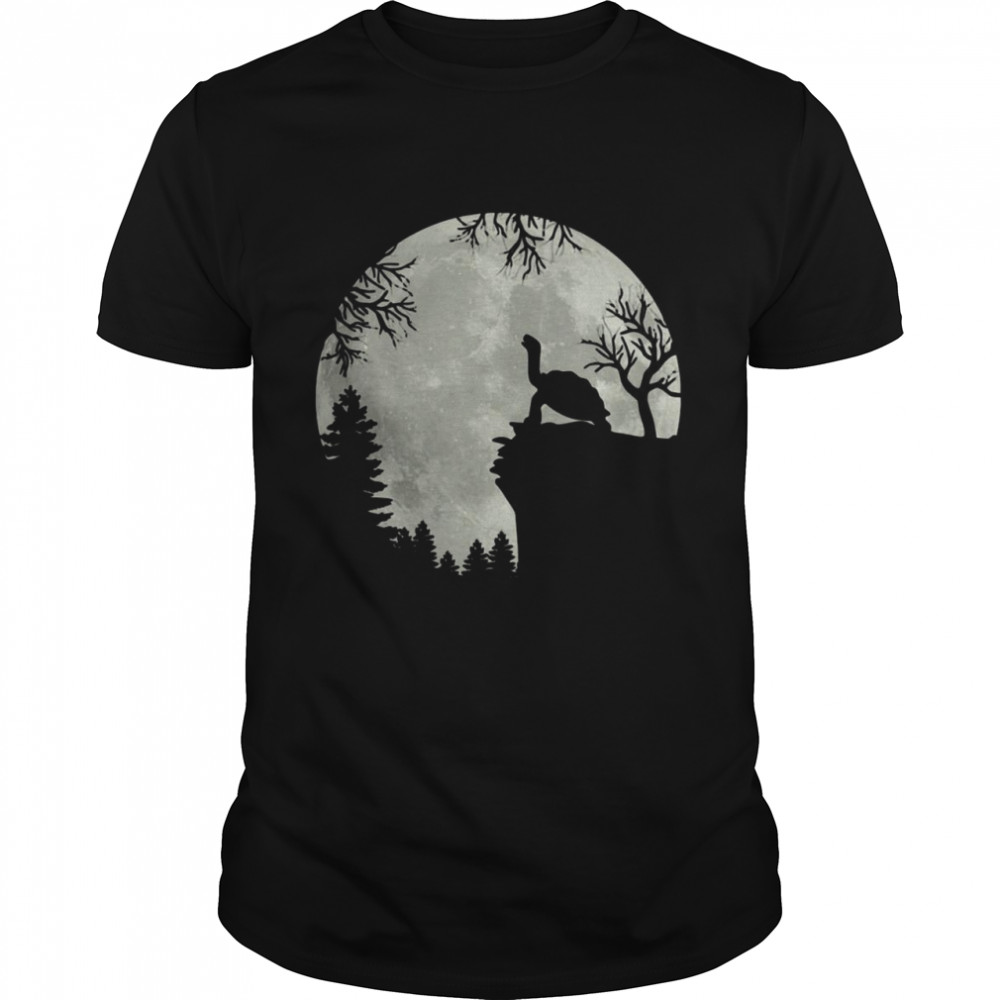 Howling turtle the moon shirt