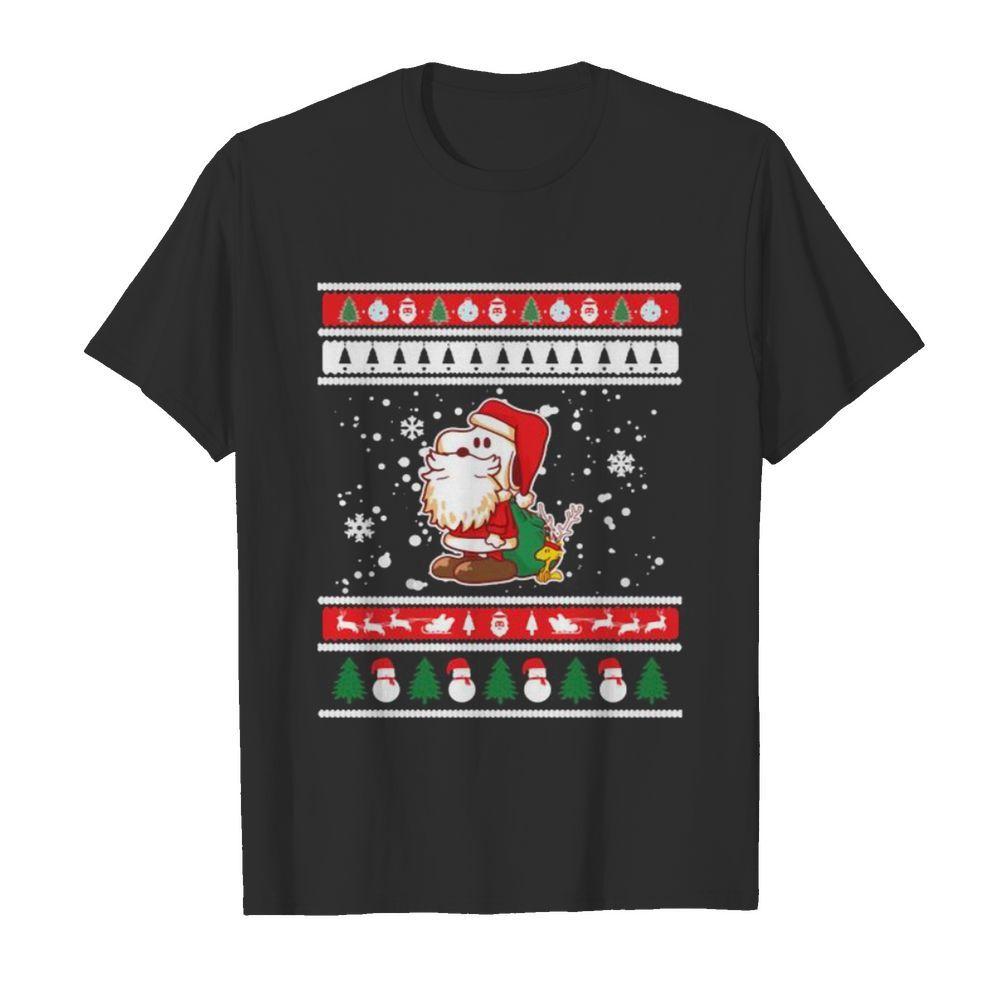 Snoopy santa claus ugly christmas shirt