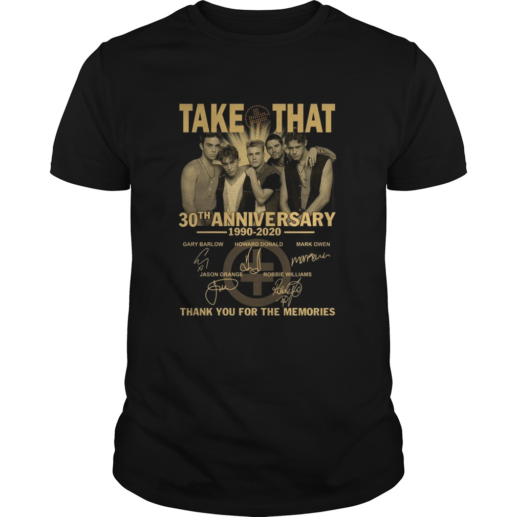 1604729265Take That 30th Anniversary 1990-2020 Thank You For The Memories shirt