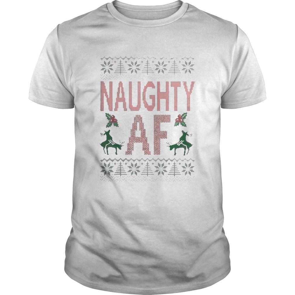 Naughty AF Ugly Christmas shirt