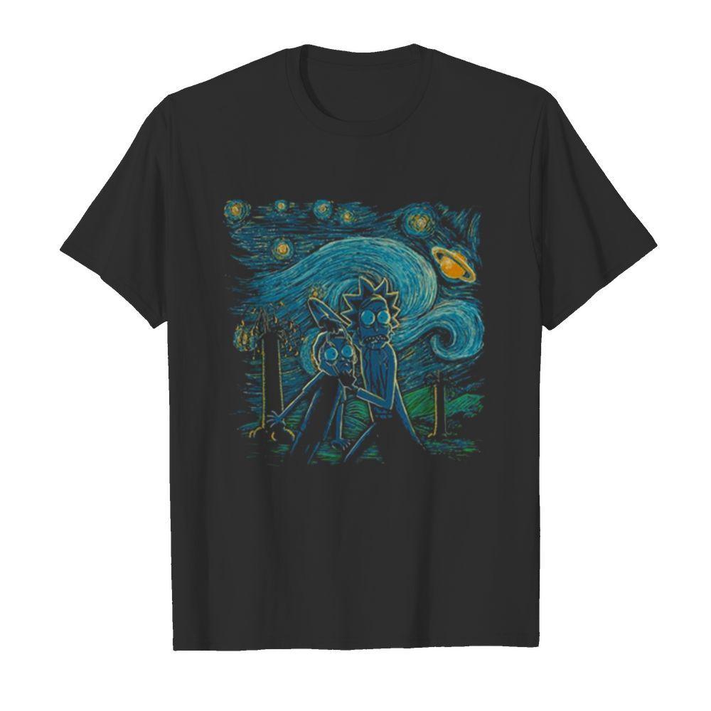 Rick And Morty Van Gogh shirt