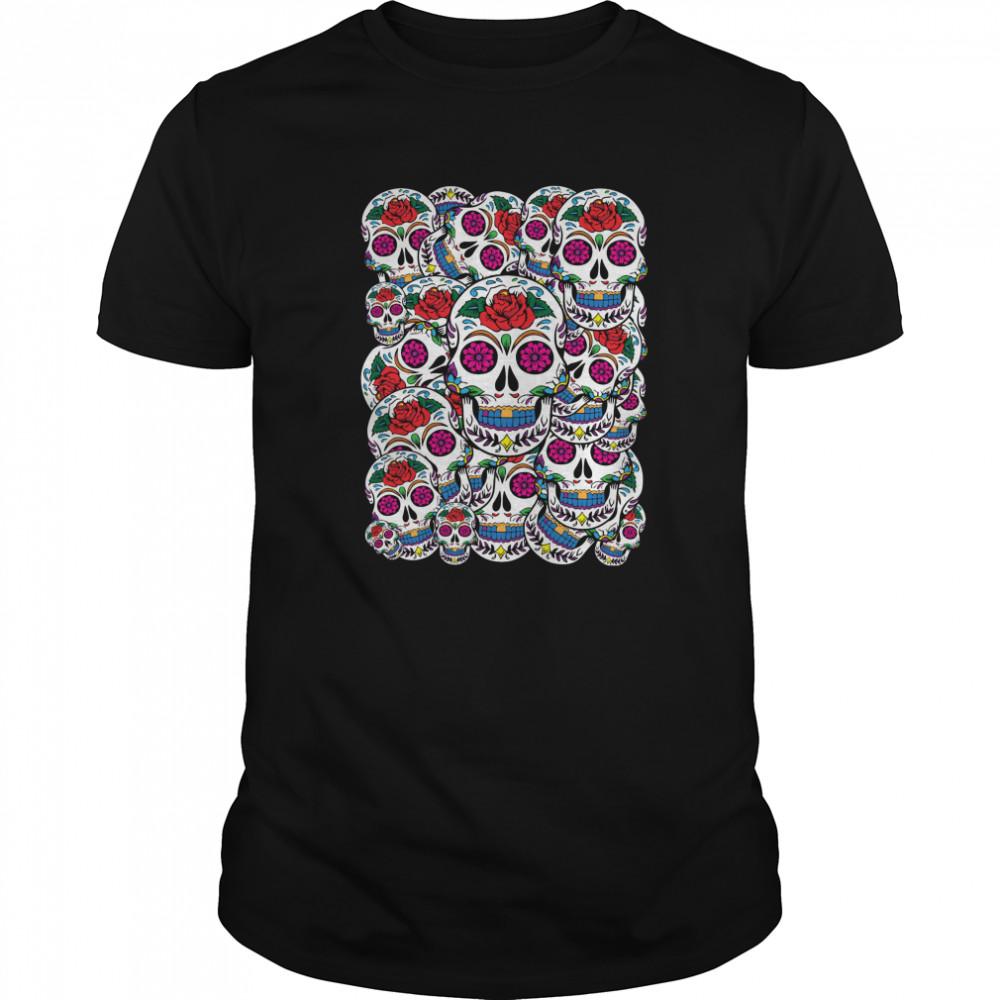 Skulls Galore Day Of The Dead Muertos shirt