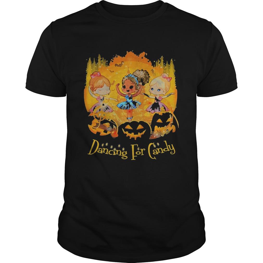 Girls Dancing For Candy Halloween shirt