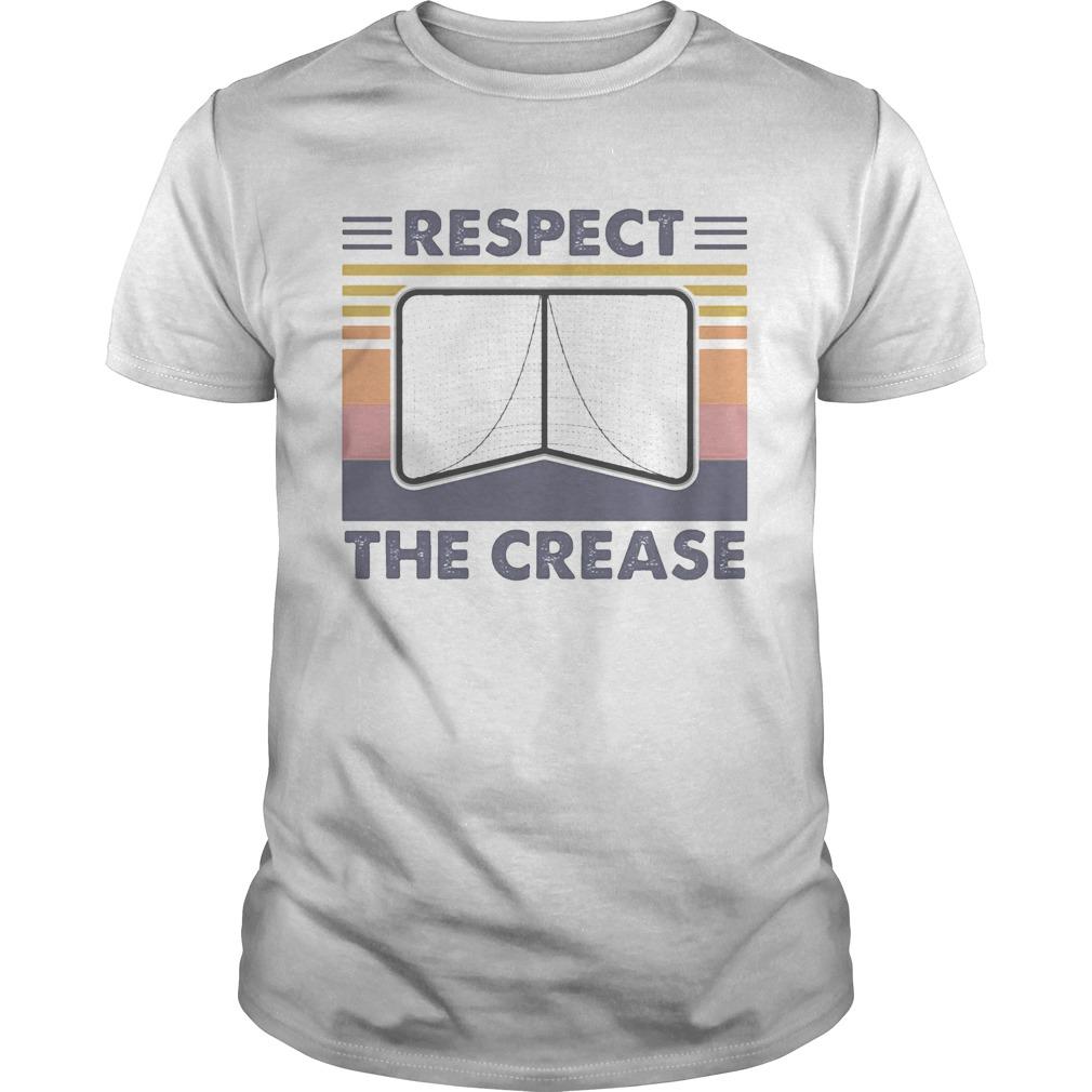 Respect the crease vintage retro shirt