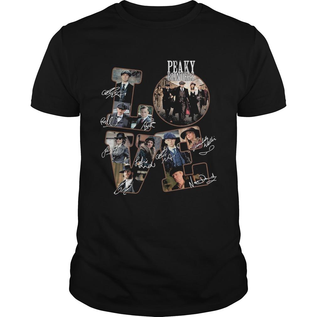 Love peaky blinders members signatures shirt