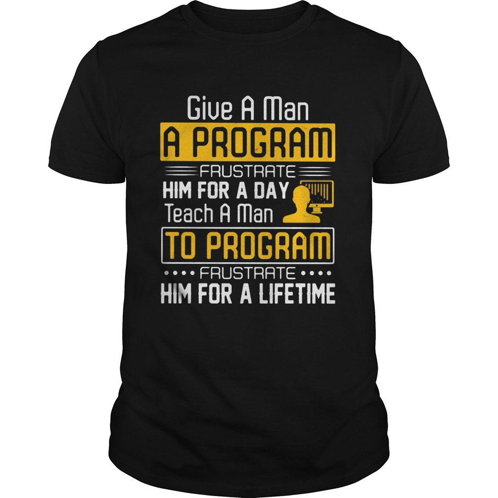 Give a man a program frustrate him for a day teach a man to program frustrate him for a lifetime sh
