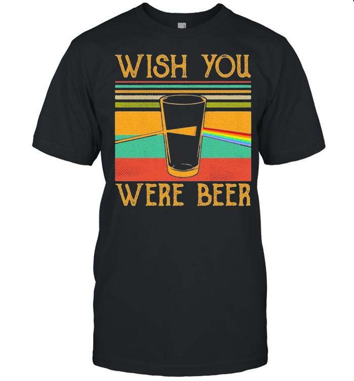 Wish You Were Beer Pink Floyd Rainbow Vintage Shirt