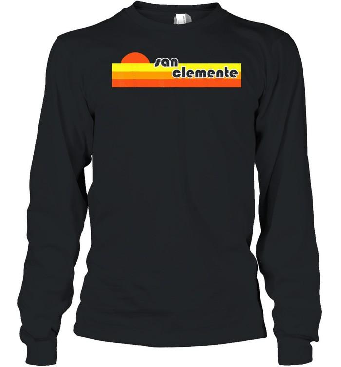 San clemente retro shirt Long Sleeved T-shirt