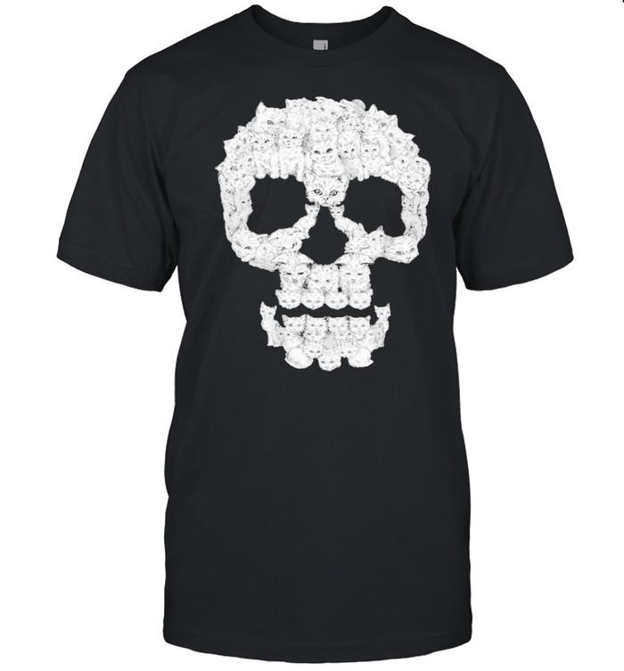 Skull cat beautiful shirt
